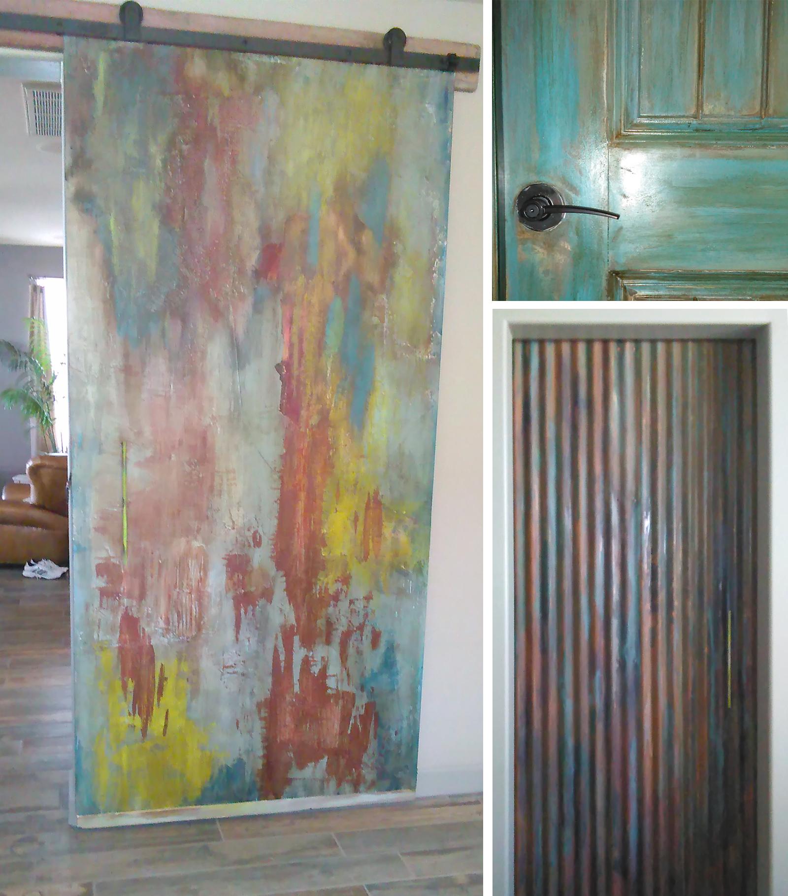custom painted doors